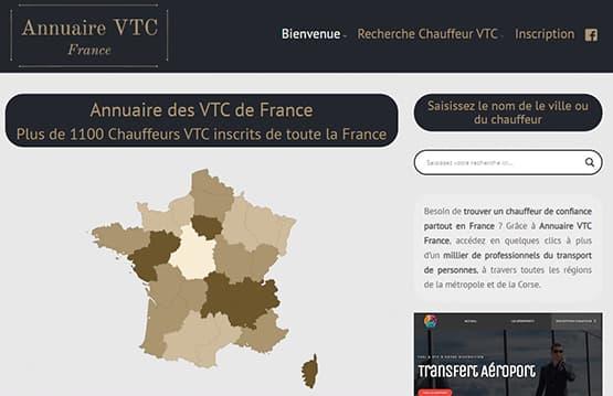 Répertoire des entreprises VTC en France