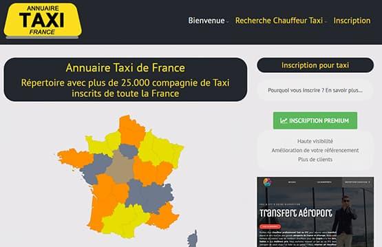 Répertoire des compagnie de Taxi en France