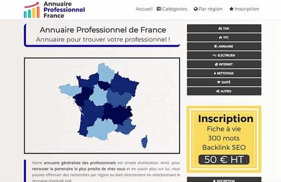 Répertoire professionnel en France